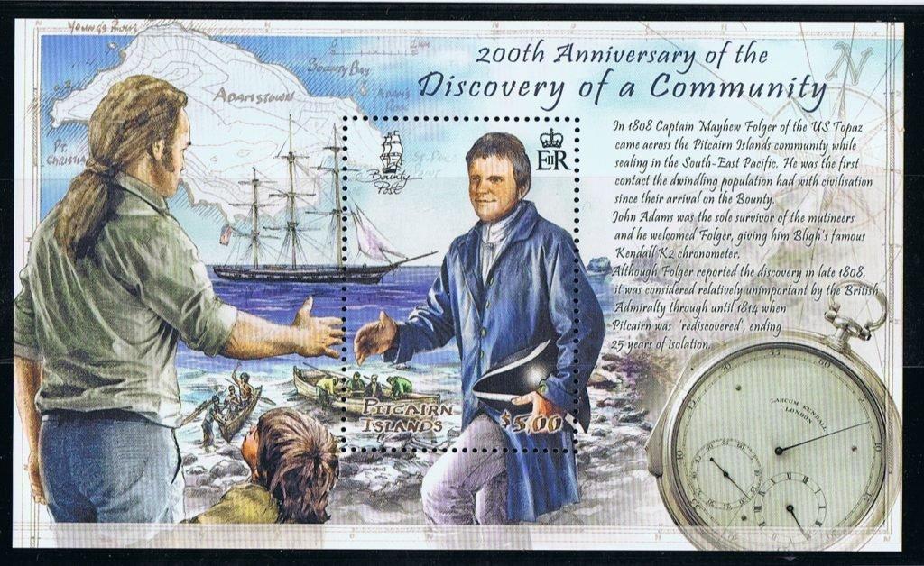 Spotkanie kapitana statku wielorybniczego Topaz Mayhewa Folgera z ostatnim z buntowników Johnem Adamsem.